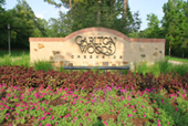 Woodlands Real Estate - entrance to amazing real estate in the woodlands